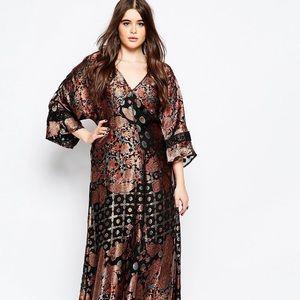 ASOS Burnout 70s Kimono dress